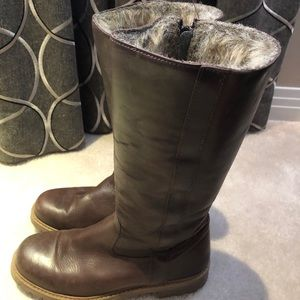 Zara Faux Fur Lined Brown Boots